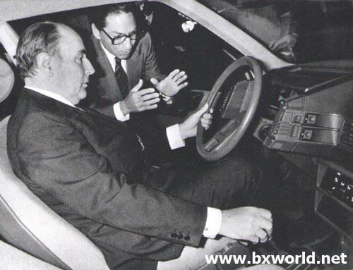 Mitterrand dans la BX